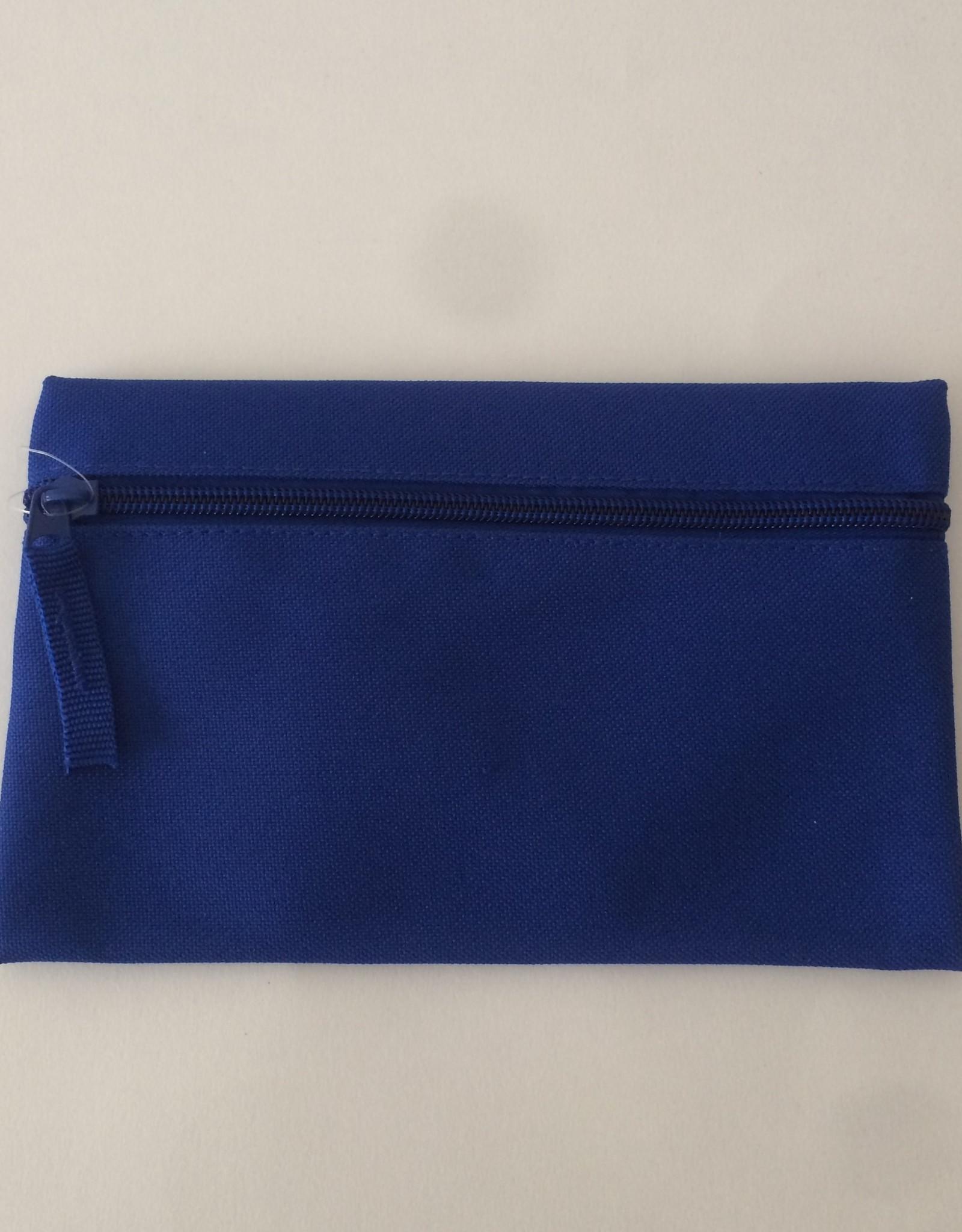 gepersonaliseerde pennenzak polyester blauw