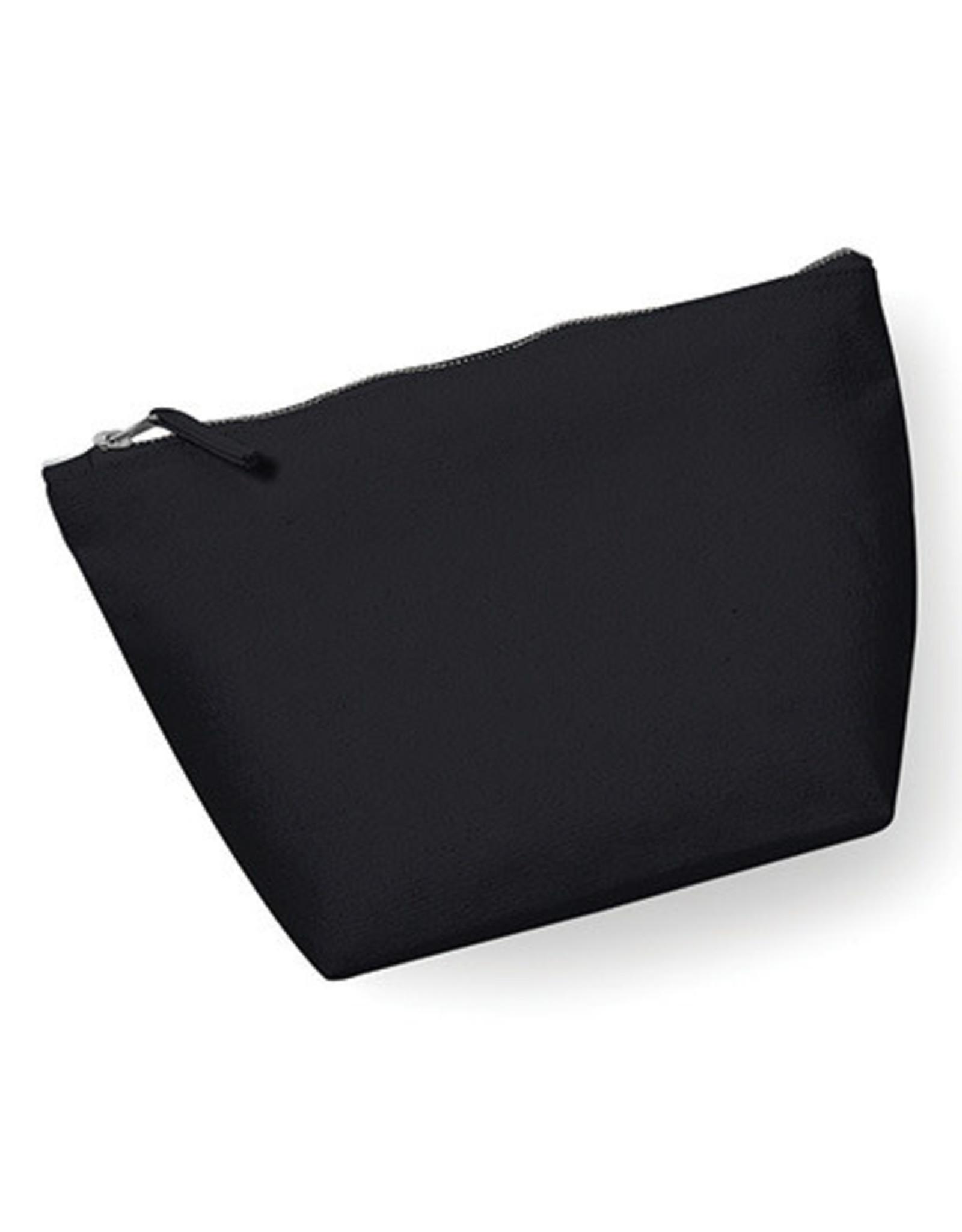 gepersonaliseerde ritstasje met bodem S 13,5 x 12 x 6 cm zwart
