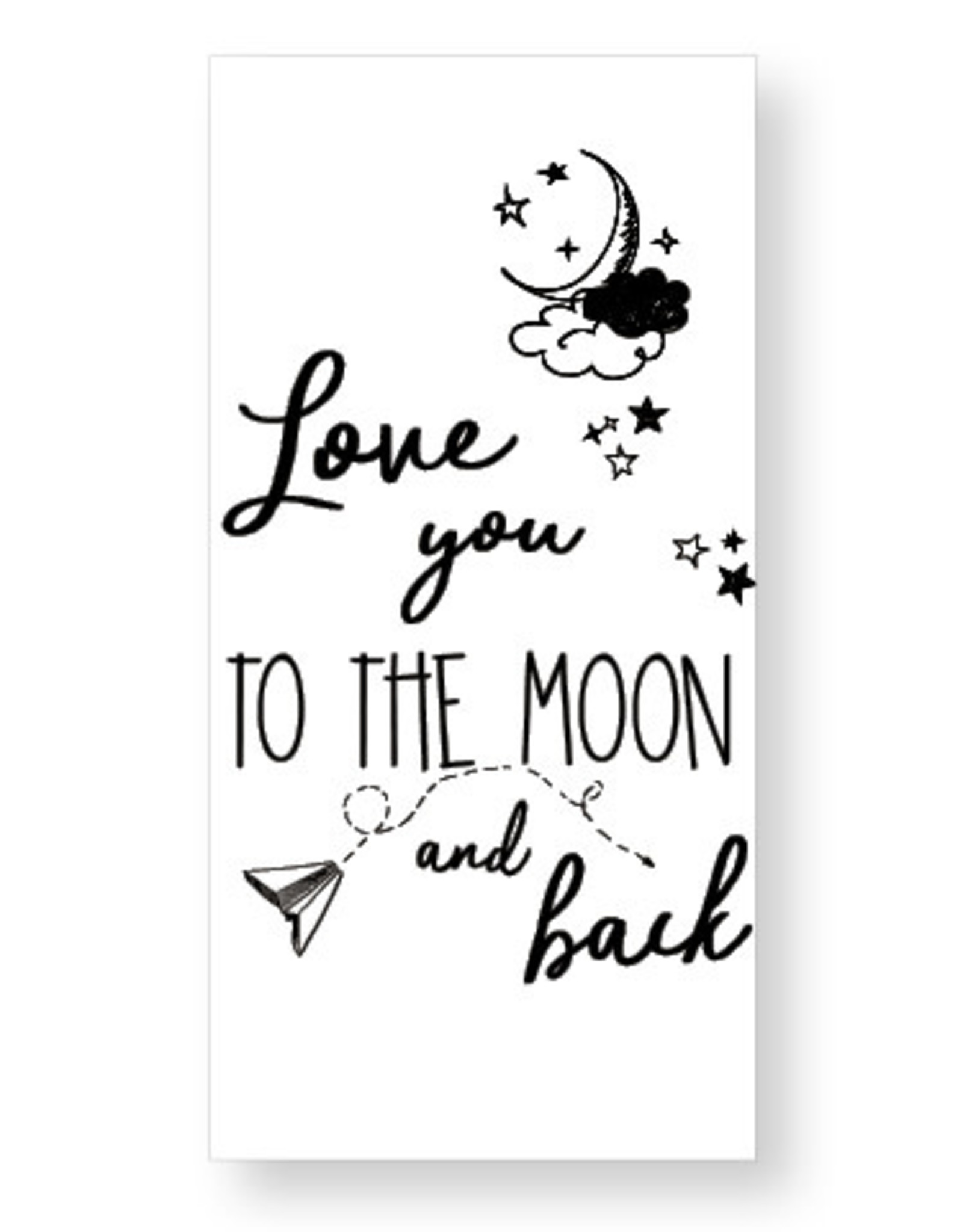 Jots Jots chocola Love you to the moon and back