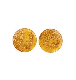 made by ellen Made by ellen 111 stekers plat 12mm oker geel spikkels