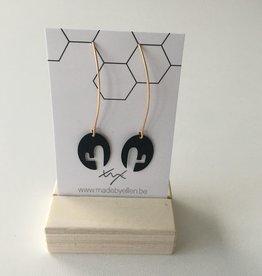made by ellen Made by ellen 121 oorbellen hangers goud/zwart