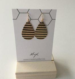made by ellen Made by ellen 124 oorbellen hangers zwart/goud