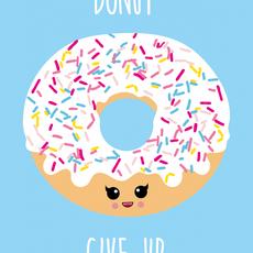 Studio inktvis kaart a6 studio inktvis: donut give up