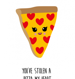 studio inktvis kaart a6 studio inktvis: you've stolen a pizza my heart