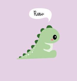 studio inktvis kaart a6 studio inktvis: rarw means i love you in dinosaur