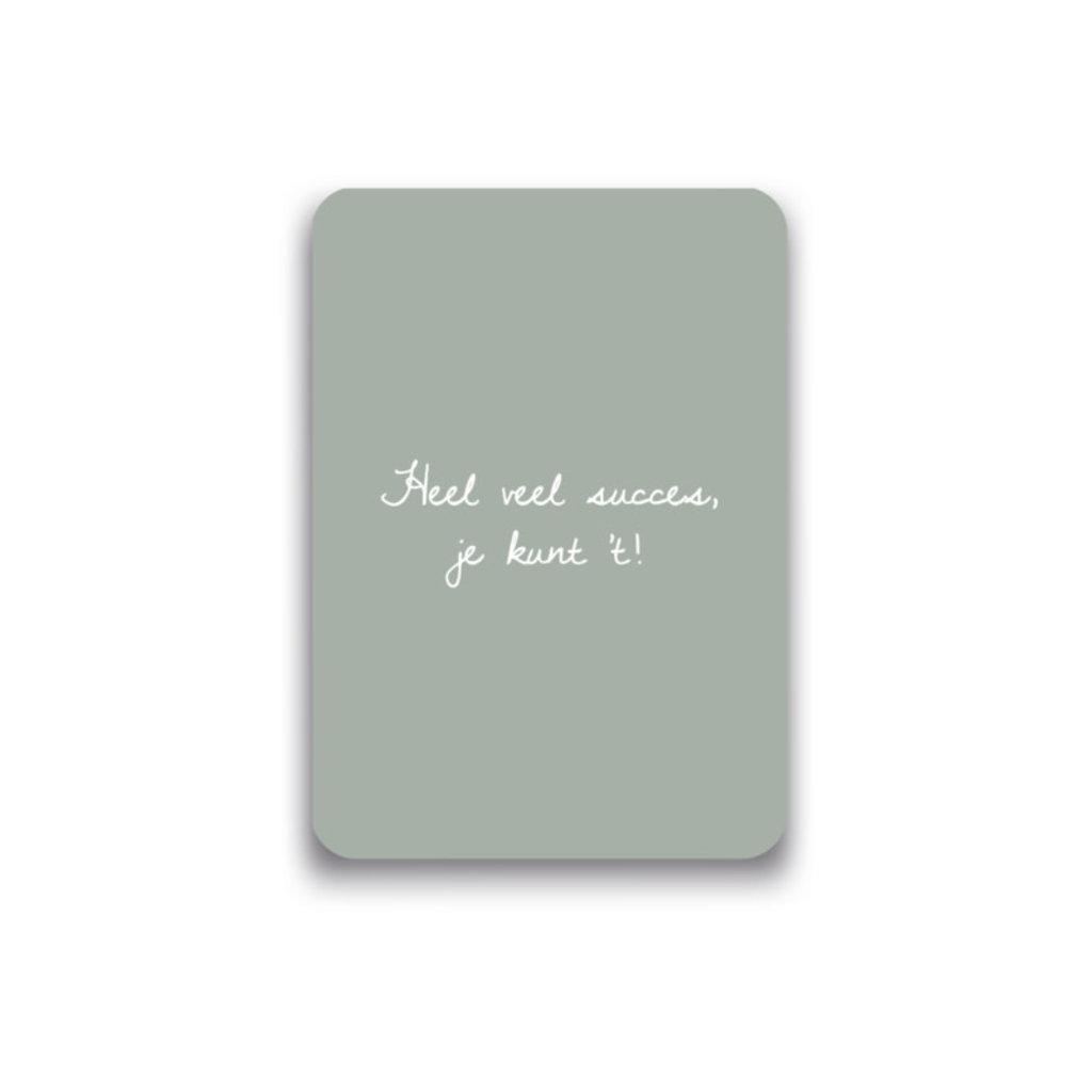 Mousie kaart a6 mousie: heel veel succes je kunt 't!