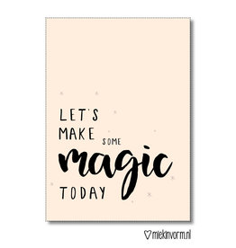 Miek in vorm kaart a6 miek in vorm: let's make some magic today