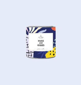 the gift label the gift label geurkaars klein Hugs & kisses (fresh cotton)