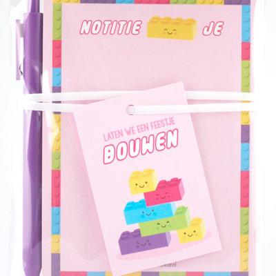 Studio schatkist studio schatkist kadoset notitieblokje roze