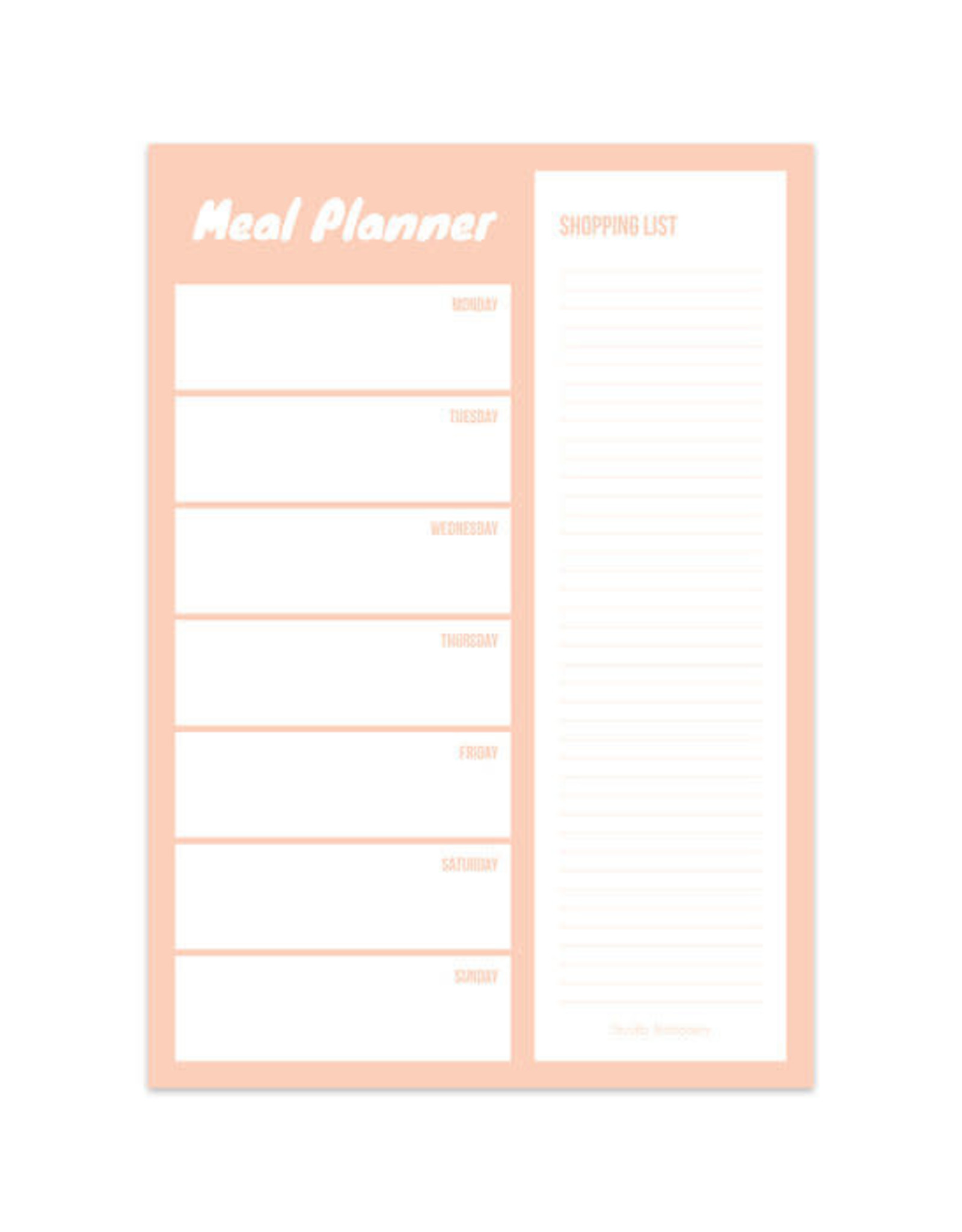 studio stationery meal planner