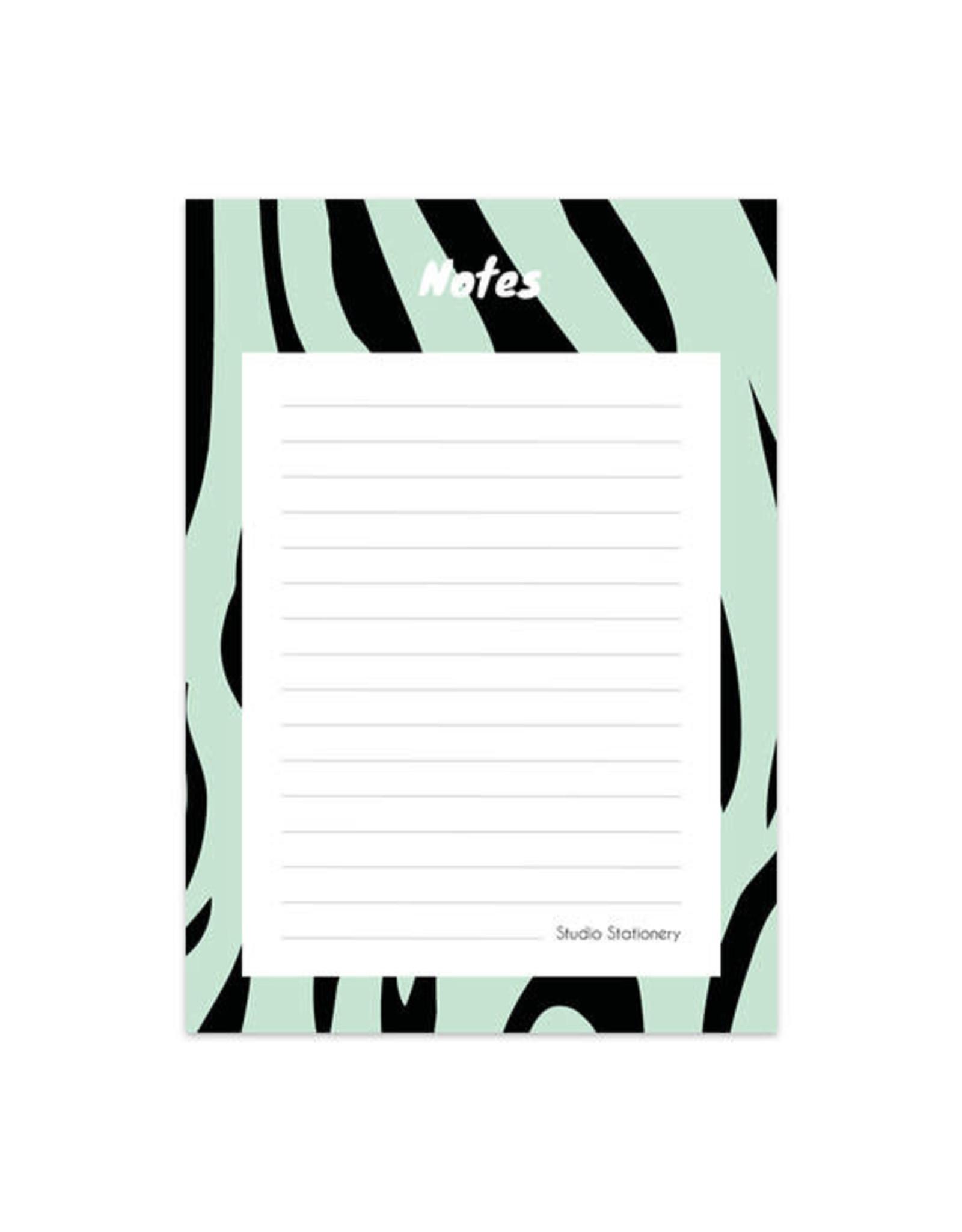 studio stationery Studio stationery noteblock zebra mint