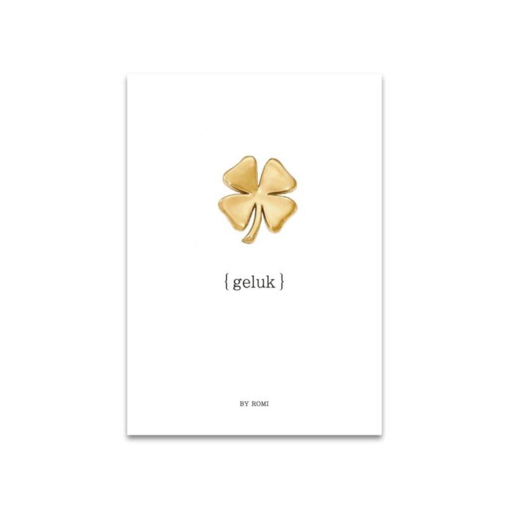 By romi kaart a6 by romi: geluk