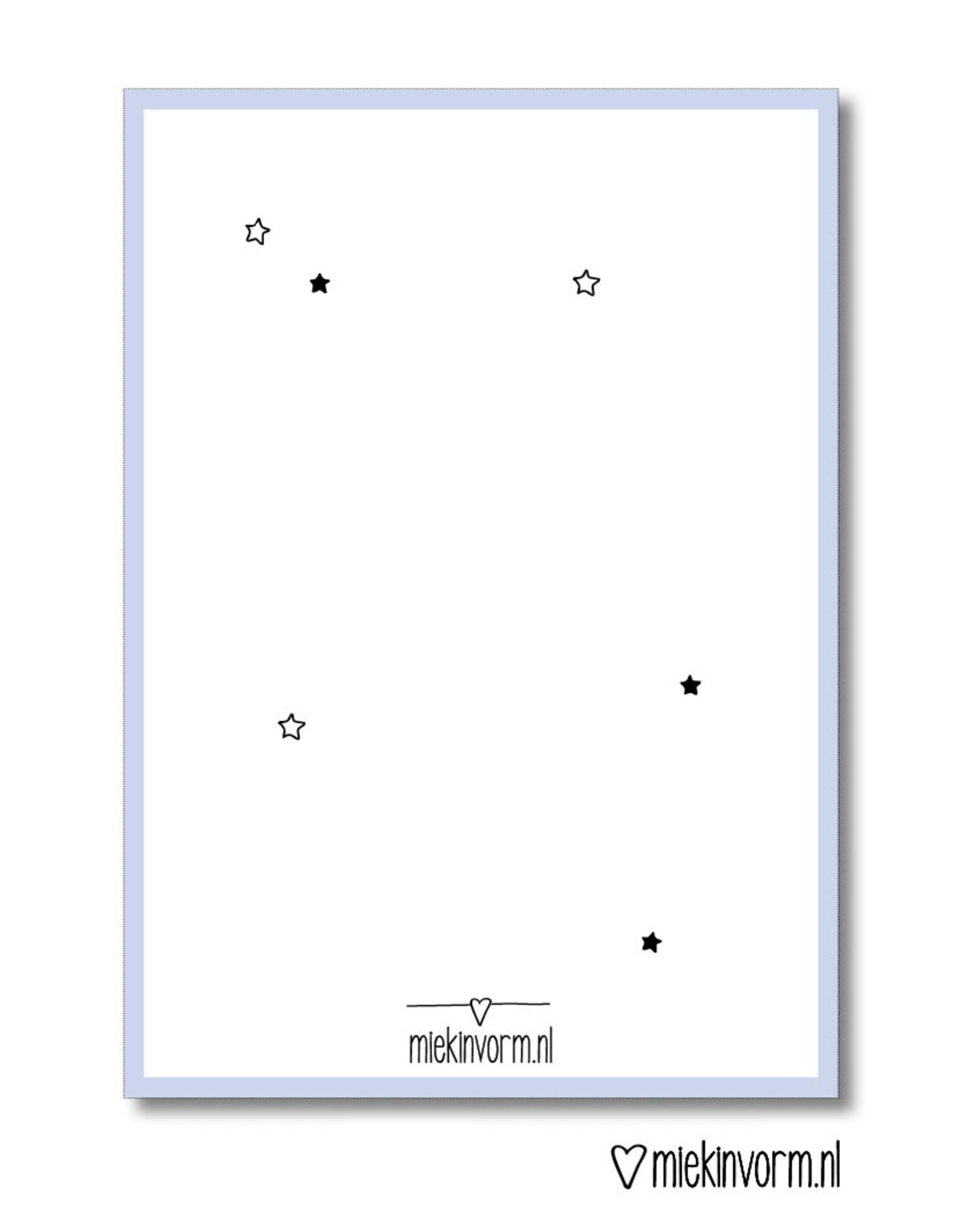 Miek in vorm Dubbele kaart a6 Miek in vorm: Hou vast aan de mooie herinneringen