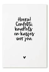 zoedt kaart a6 Zoedt: Hoera! confetti, knuffels en kusjes voor jou (1)