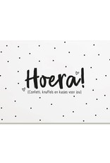 zoedt kaart a6 Zoedt: Hoera confetti, knuffels en kusjes voor jou