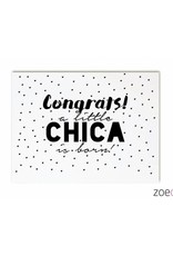 zoedt kaart a6 Zoedt: congrats a little chica is born!