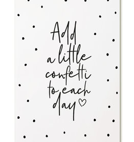 zoedt kaart a6 Zoedt: add a little confetti to each day