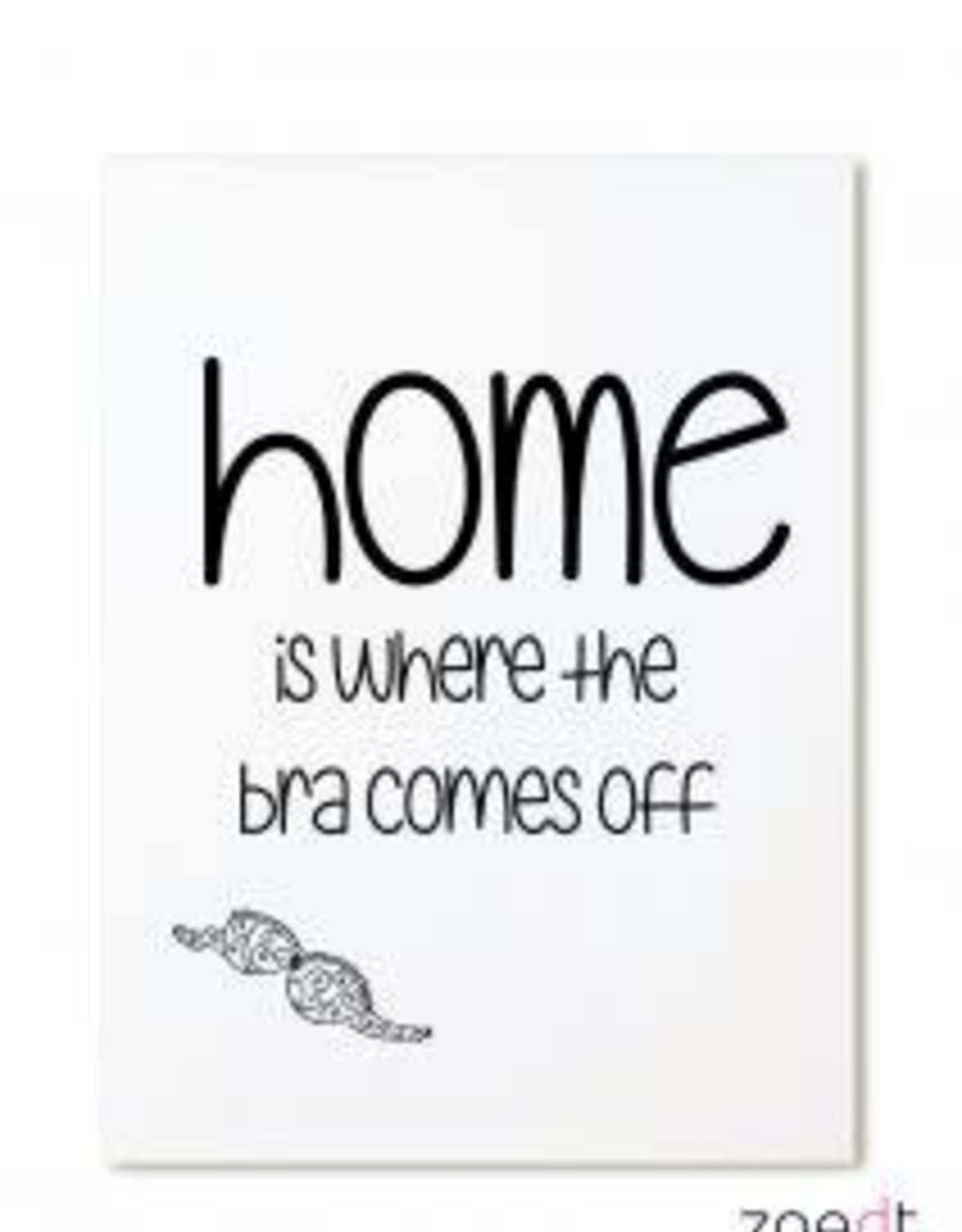 zoedt kaart a6 Zoedt: home is where the bra comes off