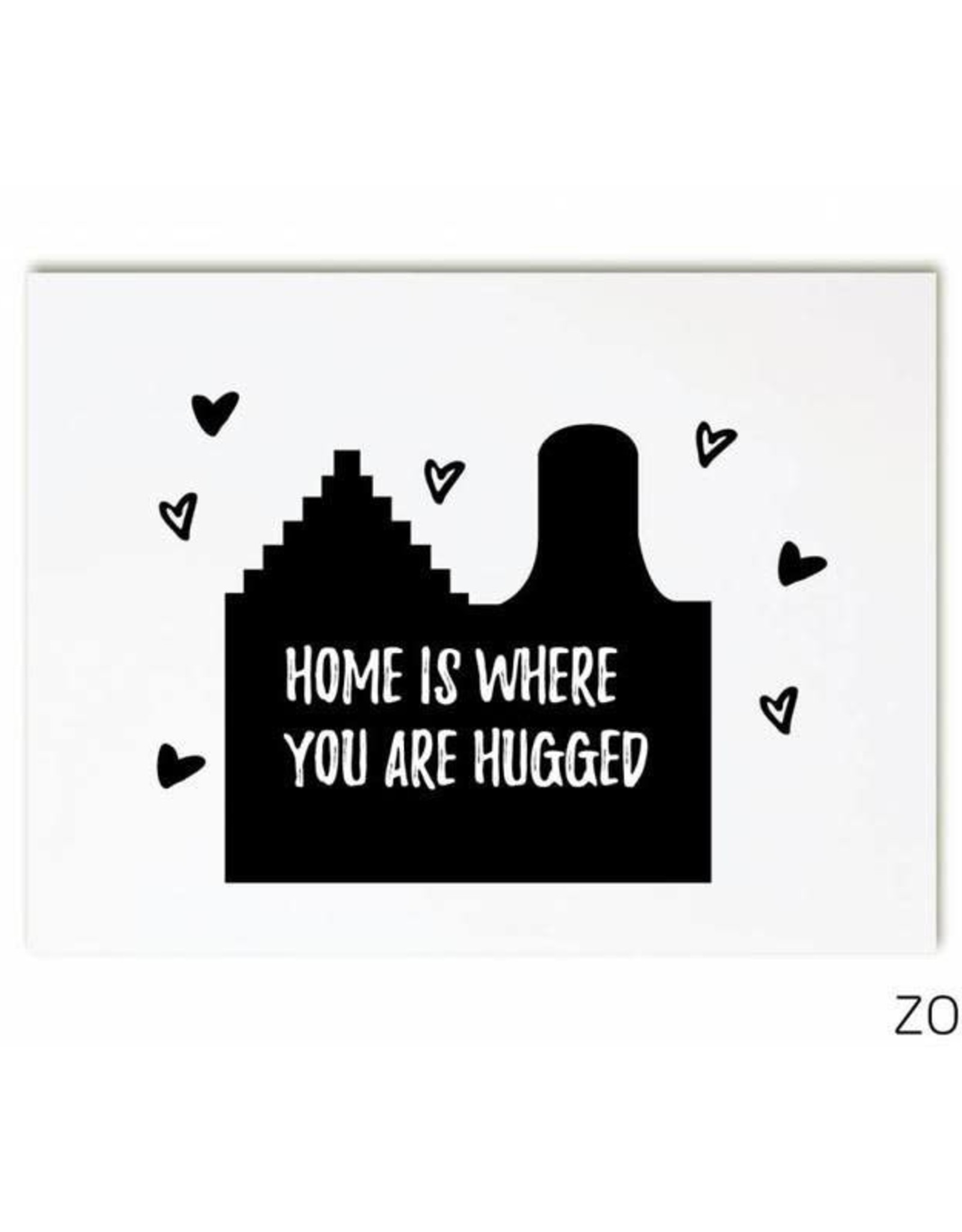 zoedt kaart a6 Zoedt: Home is where you are hugged