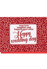 Enfant Terrible Dubbele wenskaart Enfant terrible: true love laughter and happily ever after happy wedding day