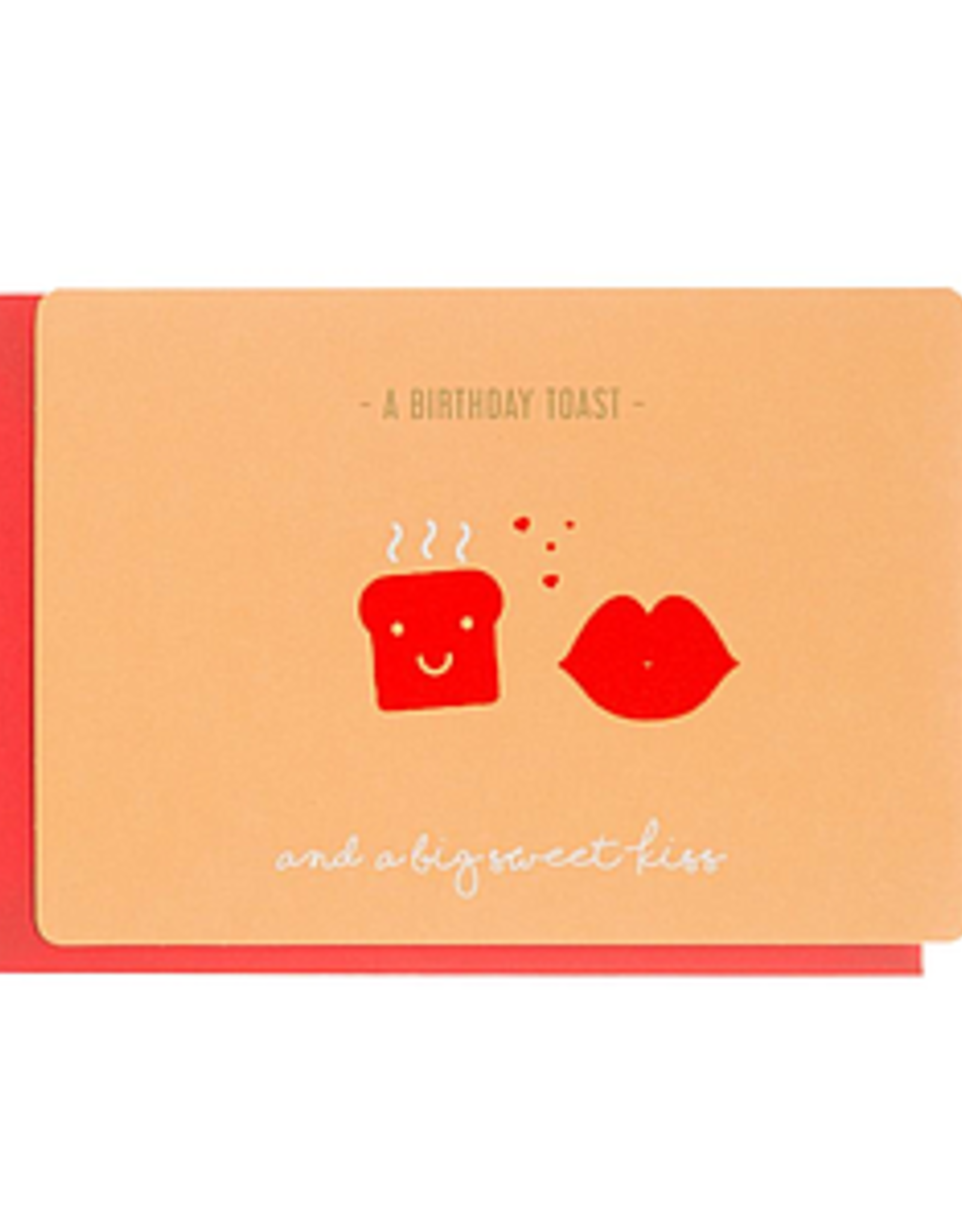 Enfant Terrible Dubbele wenskaart Enfant terrible: A birthday toast and a big sweet kiss