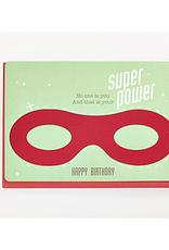 Enfant Terrible Dubbele wenskaart Enfant terrible: happy birthday superpower