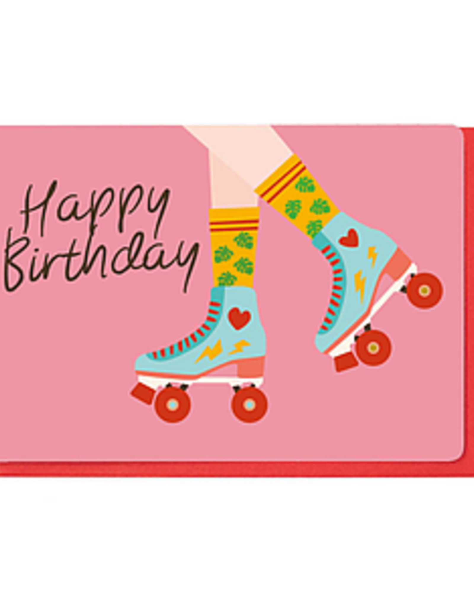 Enfant Terrible Dubbele wenskaart Enfant terrible: happy birthday rolschaatsen