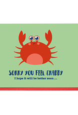 Enfant Terrible Dubbele wenskaart Enfant terrible: sorry yoy feek crabby, i hop it will be better soon