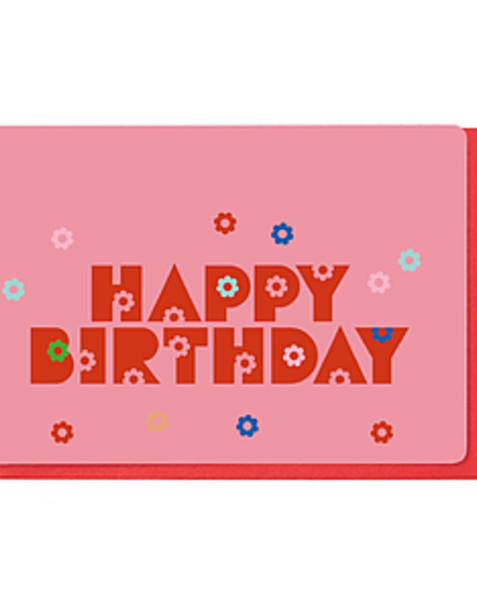 Enfant Terrible Dubbele wenskaart Enfant terrible: happy birthday bloemetjes