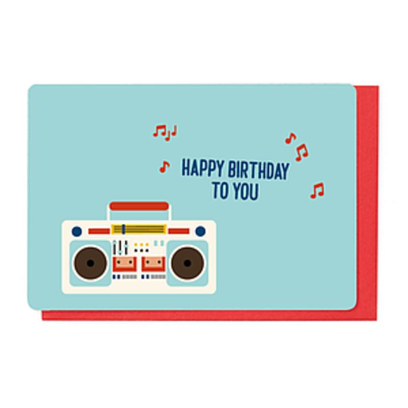 Enfant Terrible Dubbele wenskaart Enfant terrible: happy birthday to you