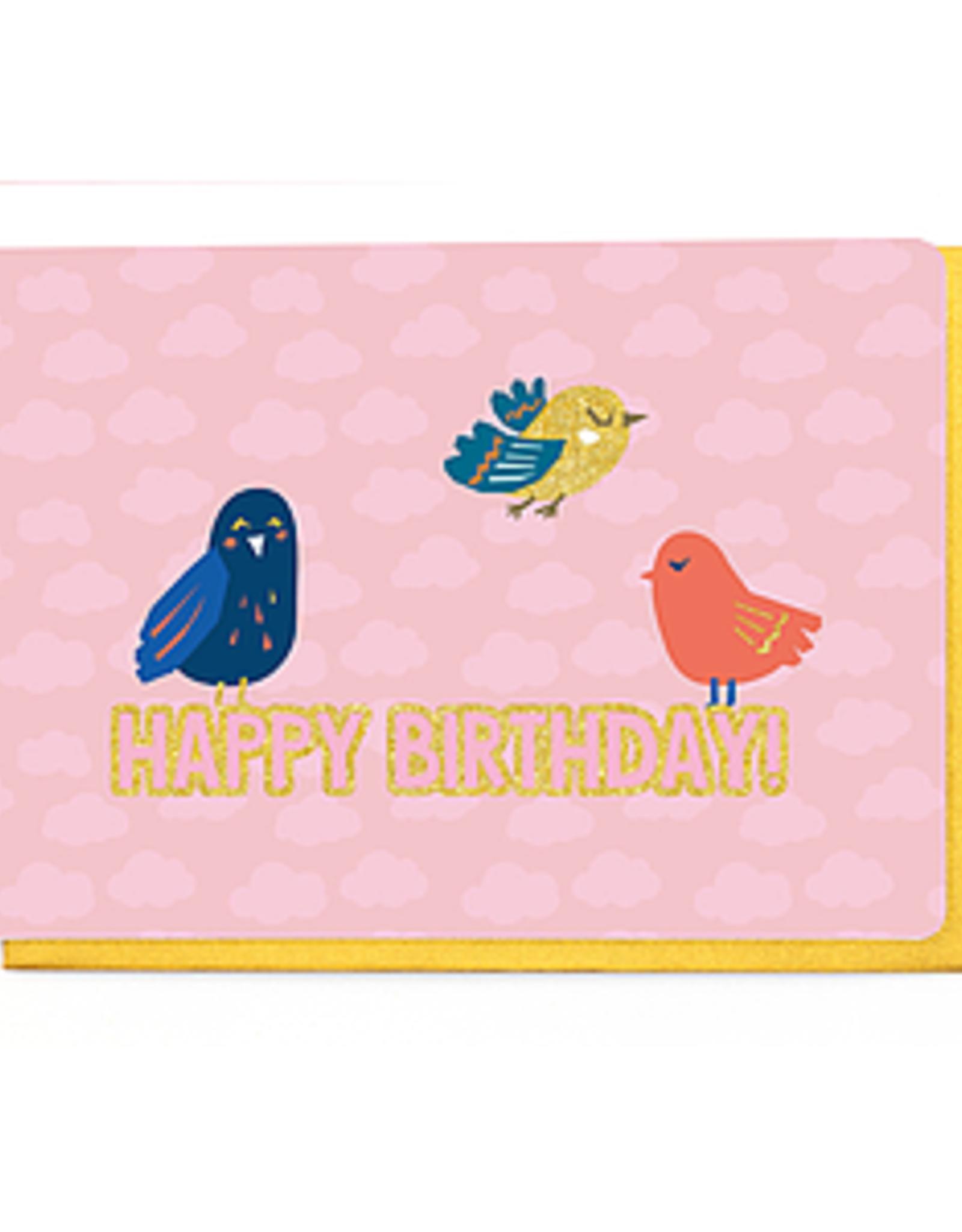 Enfant Terrible Dubbele wenskaart Enfant terrible: Happy birthday vogels