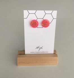 made by ellen Made by Ellen 145 steker goudfolie fel roze