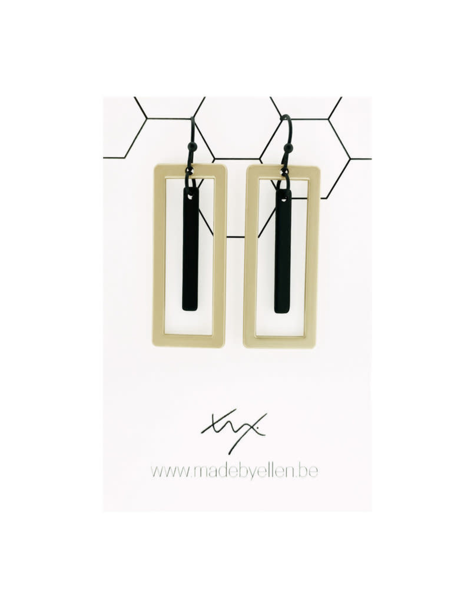 Made by ellen 150 hangers rechthoeken kort staafje zwart