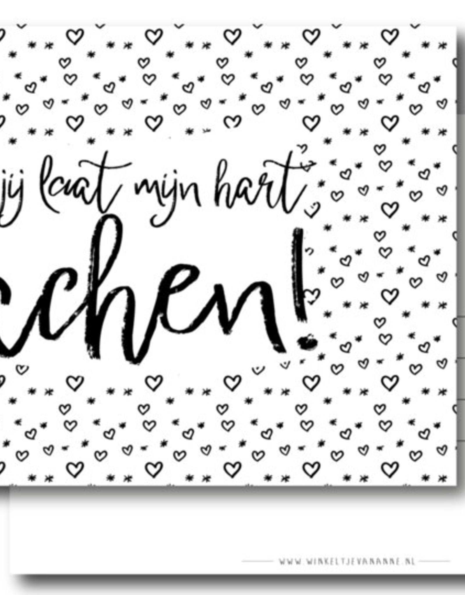 Winkeltje van Anne kaart a6 winkeltje van anne: jij laat mijn hart lachen!