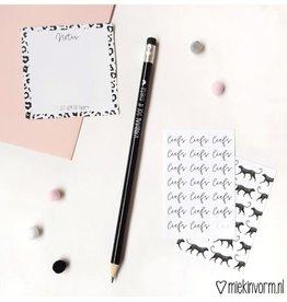 Miek in vorm miek in vorm potlood vandaag doe ik niets