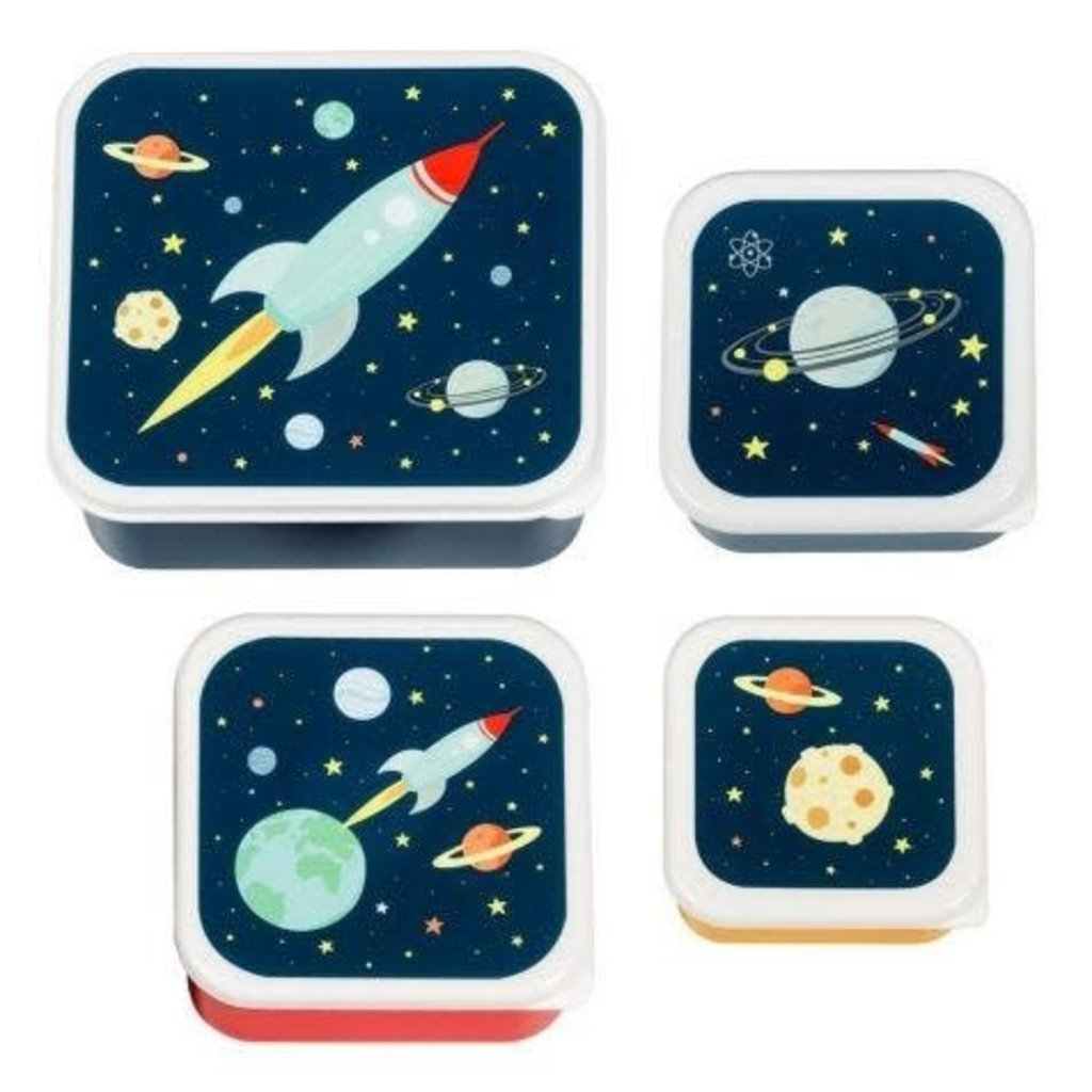 A little lovely company ALLC lunch & snackbox set: space