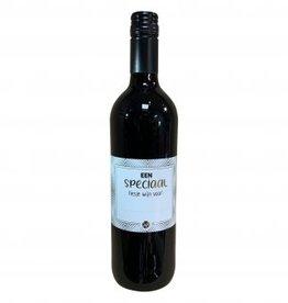 """The big gifts: wijnfles rood """"een speciaal flesje wijn voor..."""""""