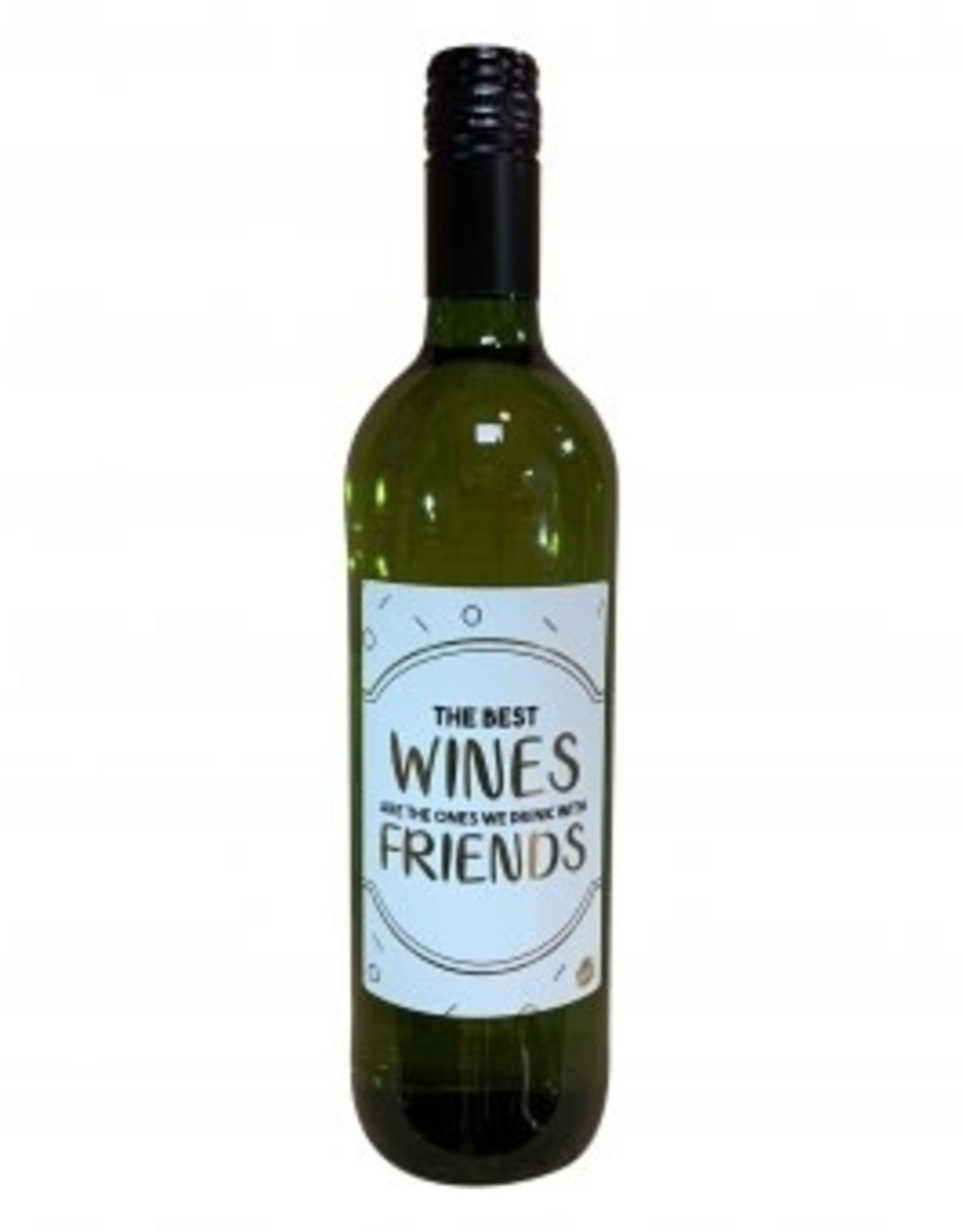 "The big gifts: wijnfles wit  ""the best wines are ..."""