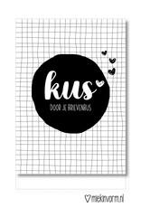 Miek in vorm kaart a6 miek in vorm: kus door je brievenbus