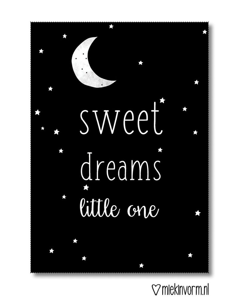 Miek in vorm kaart a6 miek in vorm: sweet dreams little one