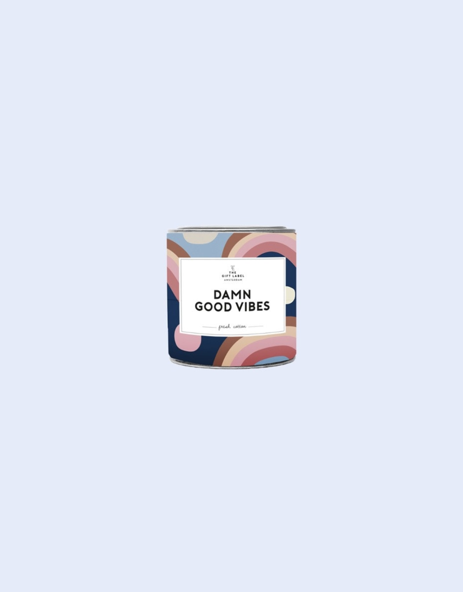 the gift label the gift label geurkaars klein Damn good vibes (fresh cotton)