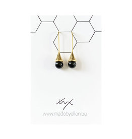 made by ellen Made by ellen 185 oorhangers zwart goud