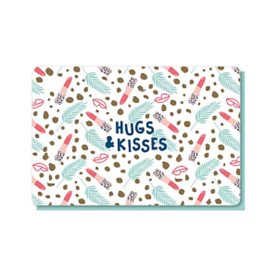 Enfant Terrible Dubbele wenskaart Enfant terrible: hugs & kisses