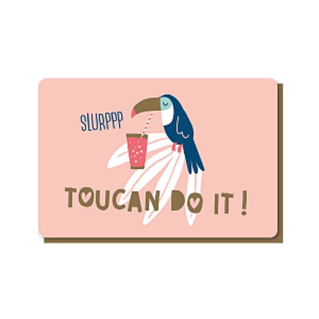 Enfant Terrible Dubbele wenskaart Enfant terrible: Toucan do it
