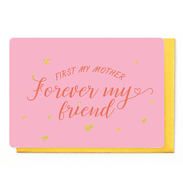 Enfant Terrible Dubbele wenskaart Enfant terrible: First my mother forever my friend