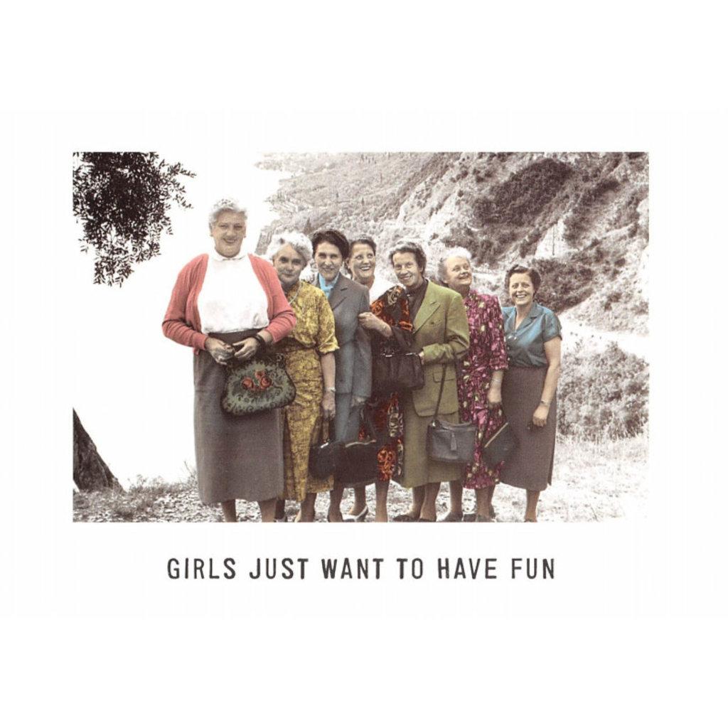 Kartoenfabriek Kartoenfabriek kaart a6 girls just want to have fun