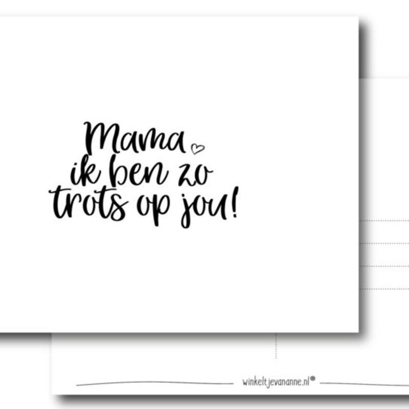 Winkeltje van Anne kaart a6 winkeltje van anne: mama ik ben zo trots op jou