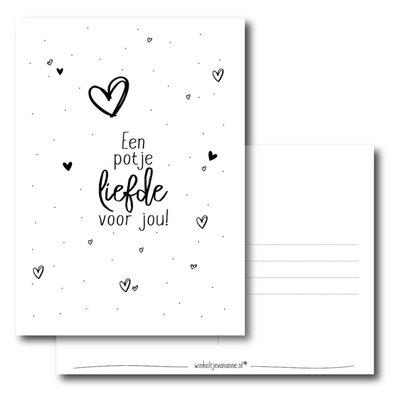 Winkeltje van Anne kaart a6 winkeltje van anne: Een potje liefde voor jou