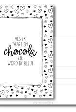 Winkeltje van Anne kaart a6 winkeltje van anne: Als ik taart en chocola zie, word ik blij!