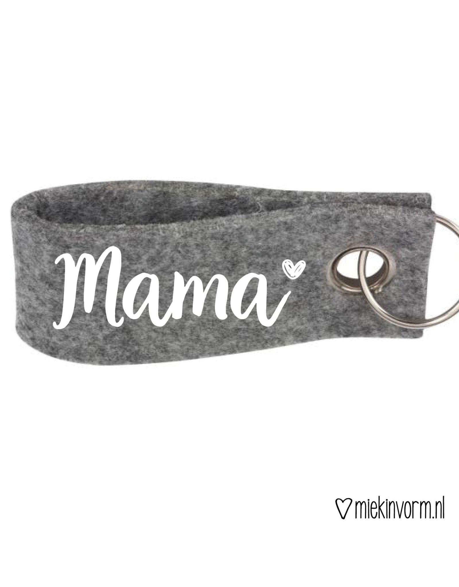 Miek in vorm Miek in vorm sleutelhanger Mama